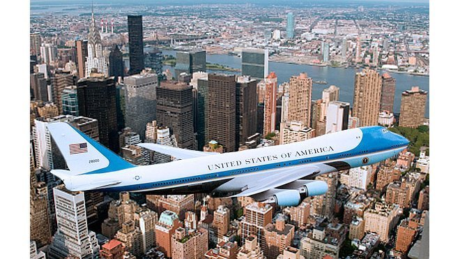 Air Force One nad New Yorkem