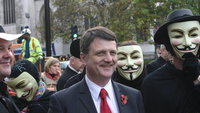 Gerard Batten na demonstraci