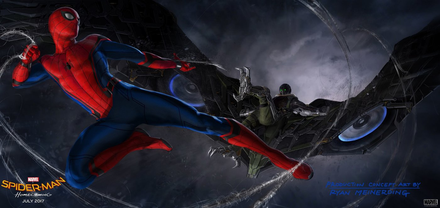 Concept art filmu Spider-Man: Homecoming