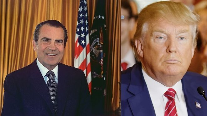 Richard Nixon a Donald Trump