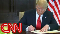 Trump, Kim Jong Un sign 'historic document'