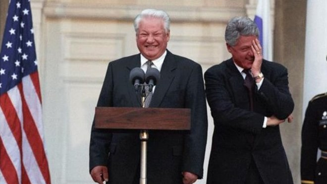Boris Jelcin a Bill Clinton.