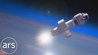 Boeing Starliner launch animation